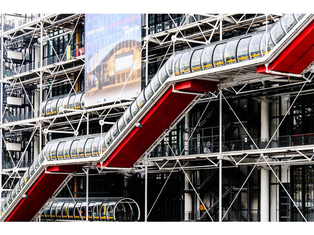 Façade extérieure et architecture du Centre George Pompidou