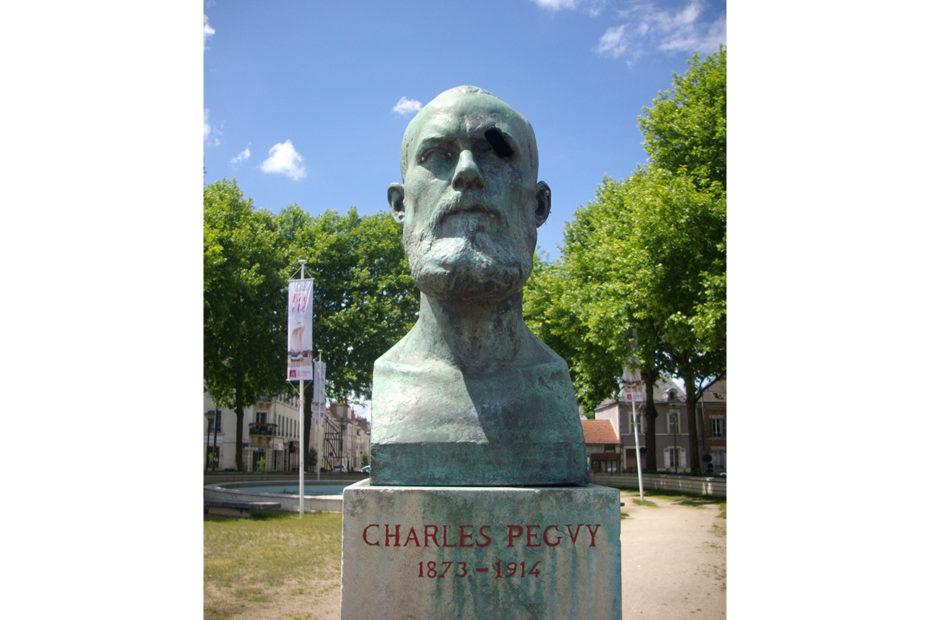 Buste sculpté de Charles Péguy