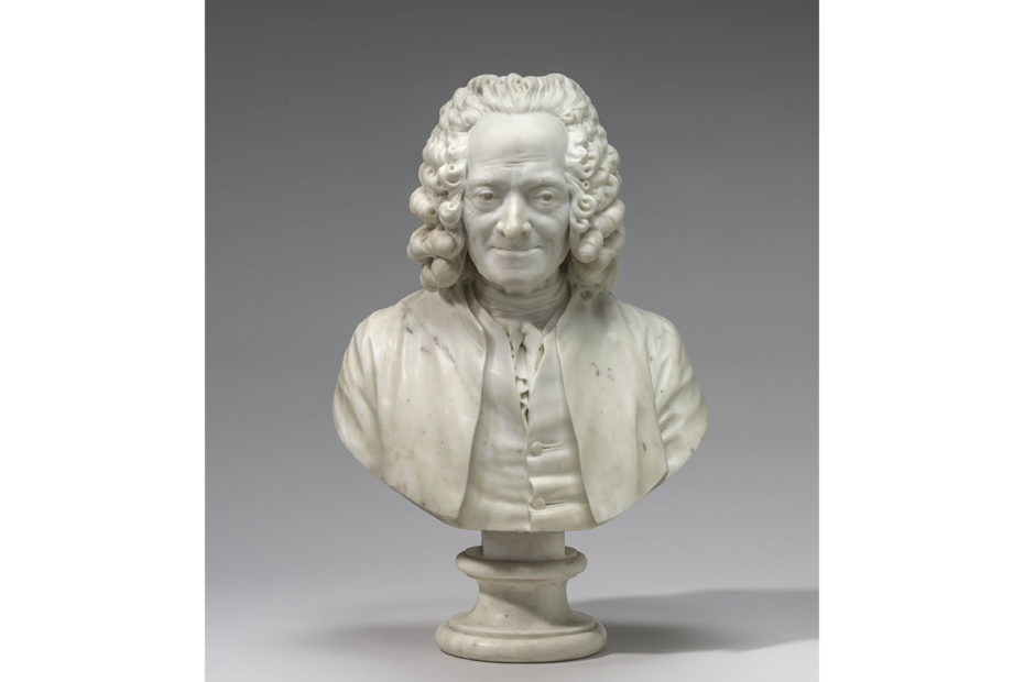 Buste de l'écrivain Voltaire