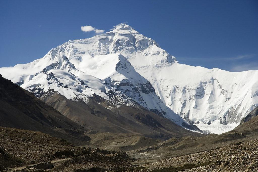Haut sommet de la montagne Everest