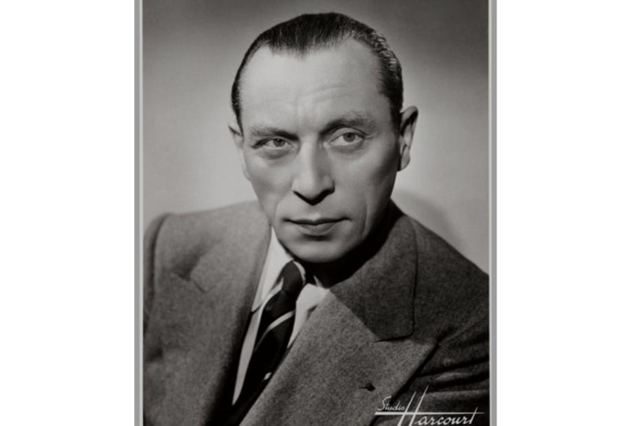 Portrait en noir et blanc de Louis Jouvet