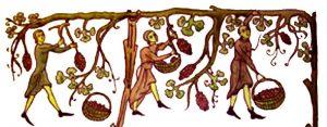 Scène de vendanges du Haut Moyen-âge
