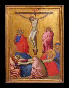 Tableau Crucifixion Barna da Siena