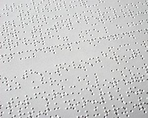 Texte en braille
