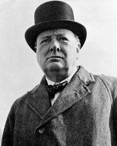 Portrait photographique de W. Churchill en 1942