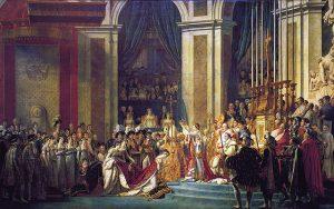 Tableau de David, Sacre de Napoléon par Pie VII