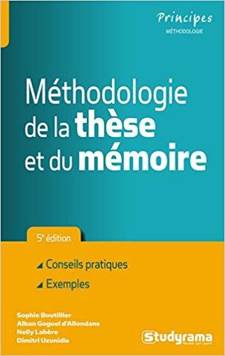 couverture du livre Méthodologie de la thèse et du mémoire