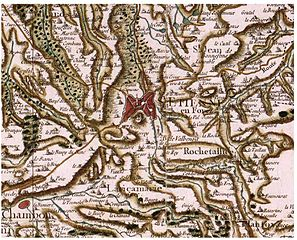 Carte de Cassini (18e s) de Saint-Etienne
