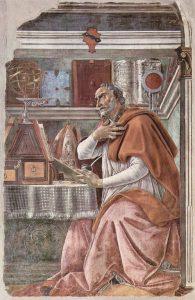 tableau, Saint Augustin, Sandro Botticelli, 1480