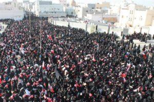 Femmes Bahreim manifestation pro-démocratie