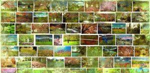 tableau d'aquarelles sur les saisons