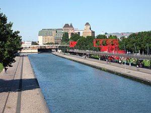 photo du canal de l'Ourcq