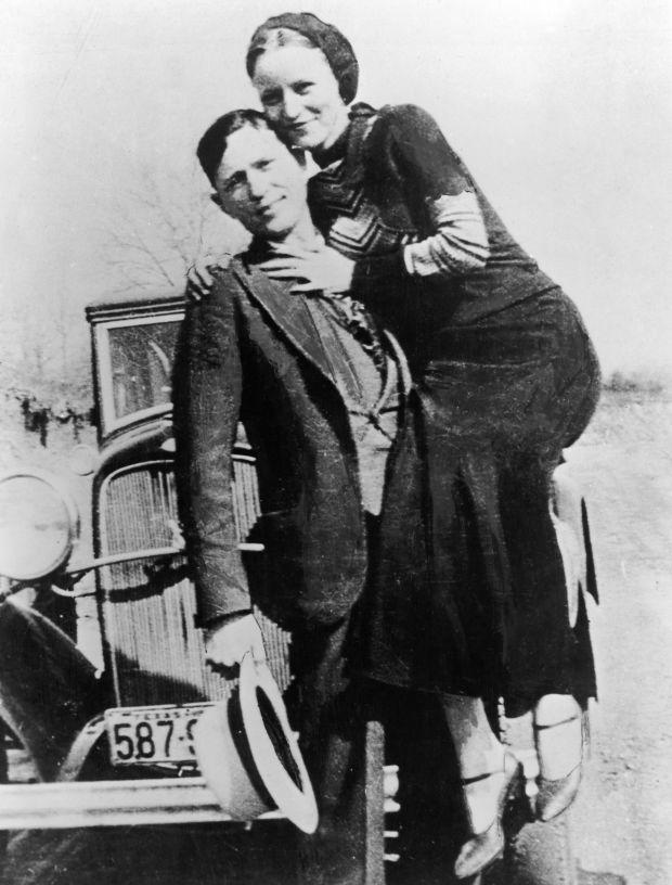 Bonnie and Clyde en 1933.