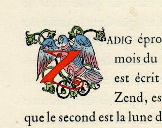initiale illustrée du prénom Zadig