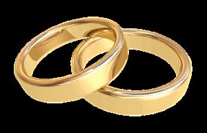 photo de deux anneaux de mariage