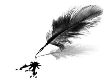 plume trempée dans l'encre