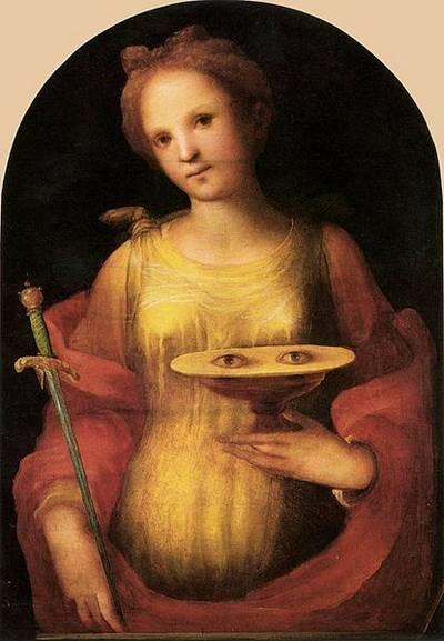 Sainte Lucie par Domenico Beccafumi