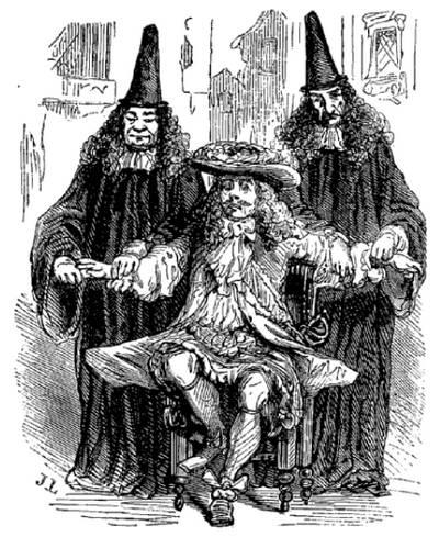 gravure de médecins de Molière
