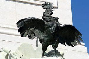 coq du monument aux Girondins Bordeaux