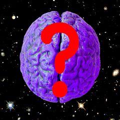 un cerveau avec un ?