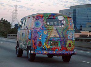 bus hippie décoré