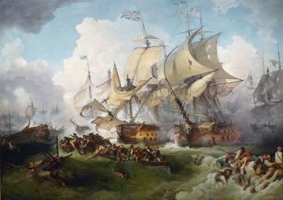 La Victoire de Lord Howe, tableau