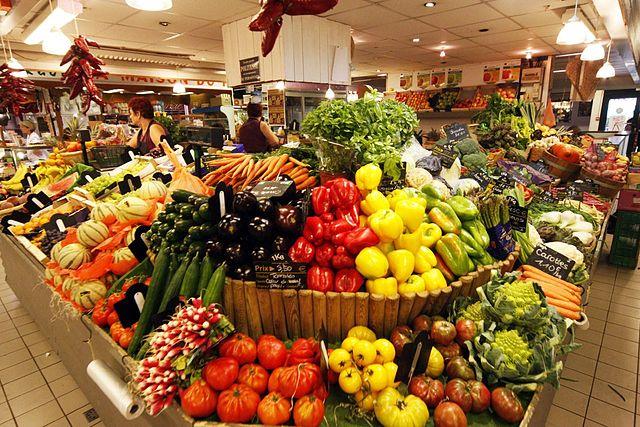 photo de légumes aux halles
