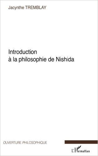 couverture du livre Introduction à la philosophie de Nishida