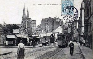 carte postale de Belleville vers 1900