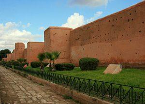 les remparts ocres de Marrakech
