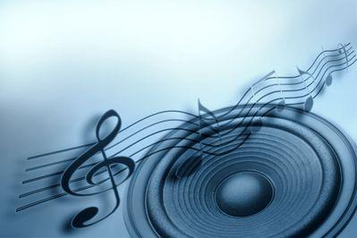 portée musicale et haut parleur