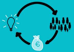 pictogramme symbolisant le crowdfunding