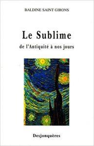 couverture de Le sublime de l'antiquité à nos jours...