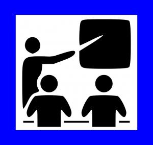 pictogramme représentant un prof et des élèves