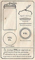 vieille étiquette de bocal de stérilisation