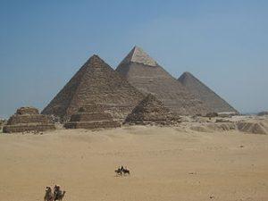 Photographies des pyramides de Gizeh