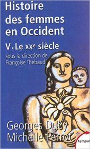 couverture du tome 5 de l'Histoire des femmes en Ocident