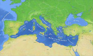 carte de la Mediterranée