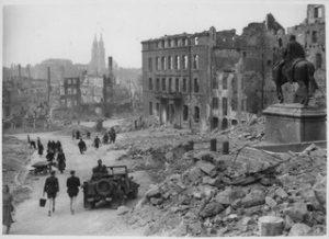 Photo de Nuremberg en ruine, 1945
