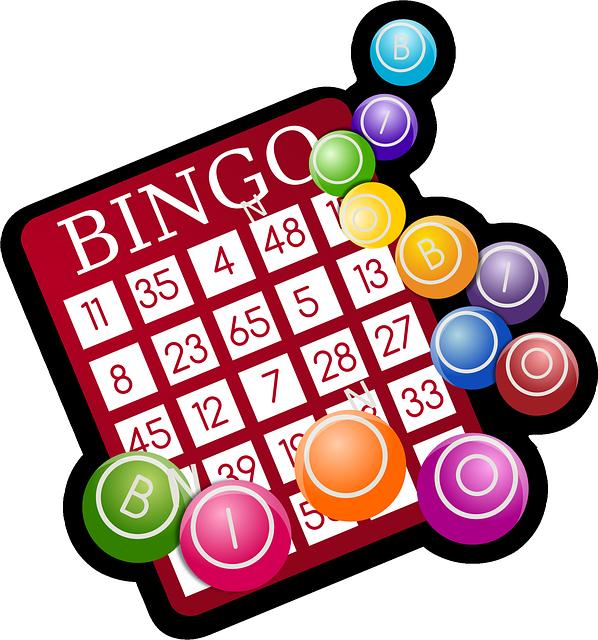 pictogramme représentant une carte de Bingo et des jetons