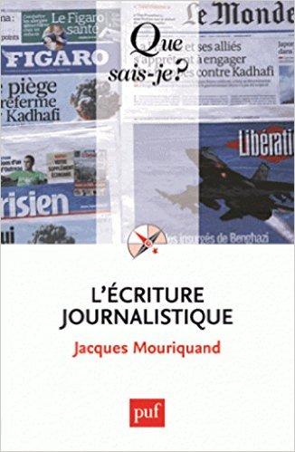 couverture du livre L'écriture journalistique