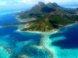 Ile de Bora Bora vue d'avion