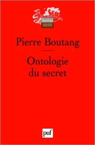 couverture du livre Ontologie du secret