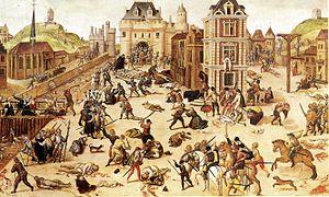 tableau de François Dubois représentant le massacre