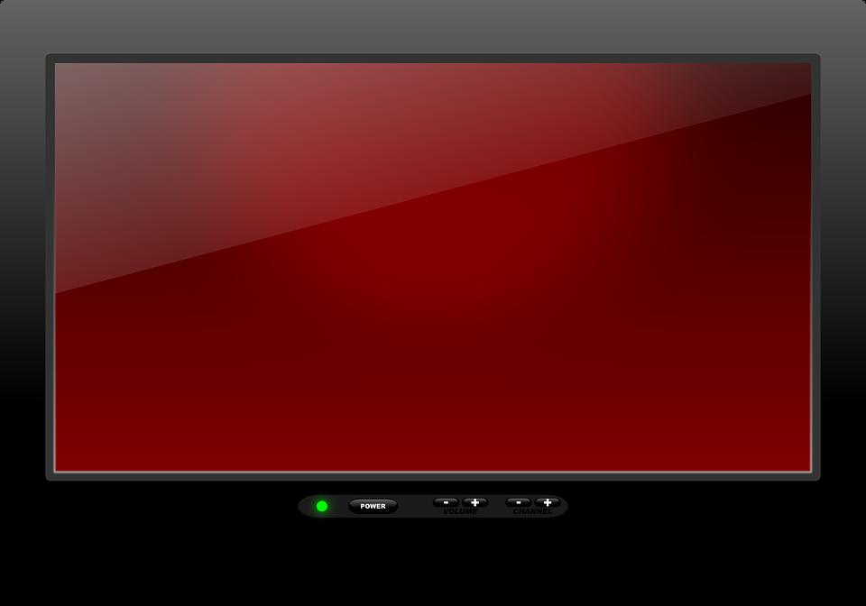 image numérique d'un écran de télévision