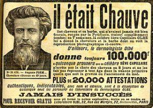 Publicité contre la calvitie de 1913