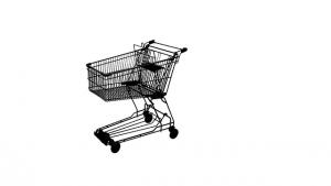 dessin de caddie de supermarché