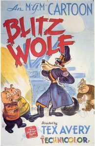 Nazi cartoons affiche de Blitz Wolf de Tex Avery