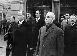Photo de Willy Brandt et Willi Stoph