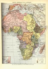 Carte d'Afrique en 1898